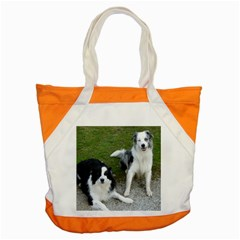 2 Border Collies Accent Tote Bag