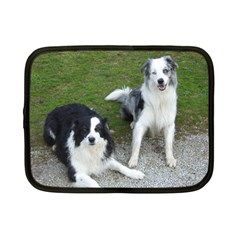 2 Border Collies Netbook Case (Small)