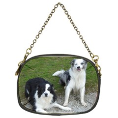 2 Border Collies Chain Purses (Two Sides)