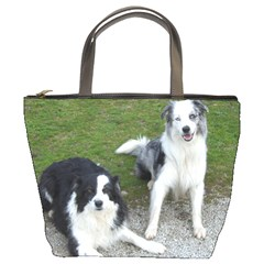 2 Border Collies Bucket Bags