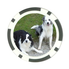 2 Border Collies Poker Chip Card Guard (10 pack)