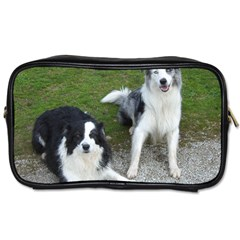 2 Border Collies Toiletries Bags 2-Side