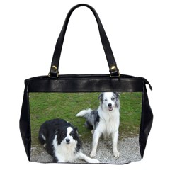 2 Border Collies Office Handbags (2 Sides)