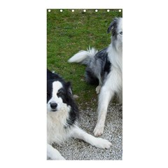 2 Border Collies Shower Curtain 36  x 72  (Stall)