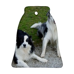 2 Border Collies Ornament (Bell)