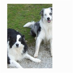 2 Border Collies Large Garden Flag (Two Sides)