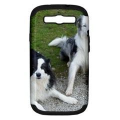2 Border Collies Samsung Galaxy S III Hardshell Case (PC+Silicone)