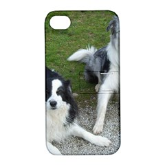 2 Border Collies Apple iPhone 4/4S Hardshell Case with Stand