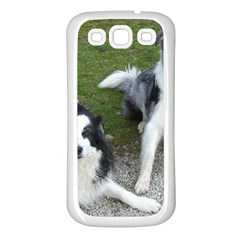 2 Border Collies Samsung Galaxy S3 Back Case (White)