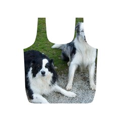 2 Border Collies Full Print Recycle Bags (S)