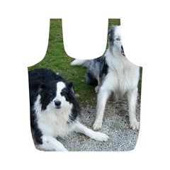 2 Border Collies Full Print Recycle Bags (M)