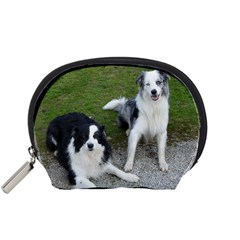2 Border Collies Accessory Pouches (Small)