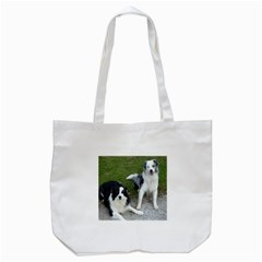 2 Border Collies Tote Bag (White)