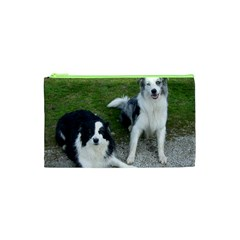 2 Border Collies Cosmetic Bag (XS)