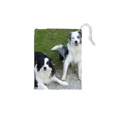 2 Border Collies Drawstring Pouches (XS)