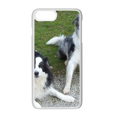 2 Border Collies Apple iPhone 7 Plus White Seamless Case