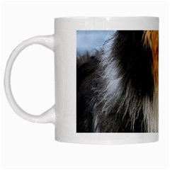 Black Tri Border Collie Wet White Mugs