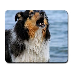 Black Tri Border Collie Wet Large Mousepads