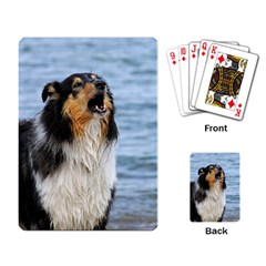 Black Tri Border Collie Wet Playing Card