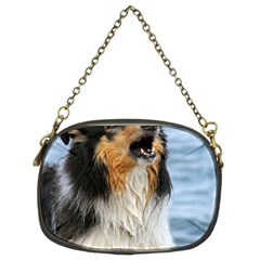 Black Tri Border Collie Wet Chain Purses (Two Sides)