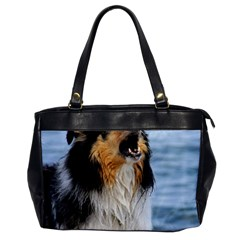 Black Tri Border Collie Wet Office Handbags