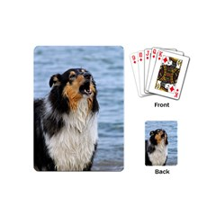 Black Tri Border Collie Wet Playing Cards (Mini)