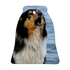 Black Tri Border Collie Wet Bell Ornament (Two Sides)