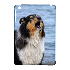 Black Tri Border Collie Wet Apple iPad Mini Hardshell Case (Compatible with Smart Cover)