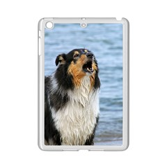 Black Tri Border Collie Wet iPad Mini 2 Enamel Coated Cases