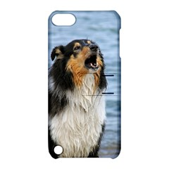 Black Tri Border Collie Wet Apple iPod Touch 5 Hardshell Case with Stand