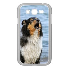 Black Tri Border Collie Wet Samsung Galaxy Grand DUOS I9082 Case (White)