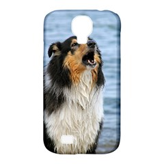 Black Tri Border Collie Wet Samsung Galaxy S4 Classic Hardshell Case (PC+Silicone)