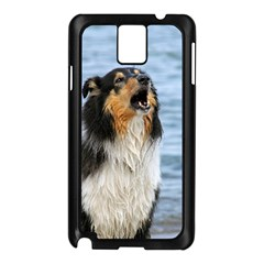 Black Tri Border Collie Wet Samsung Galaxy Note 3 N9005 Case (Black)