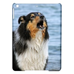 Black Tri Border Collie Wet iPad Air Hardshell Cases