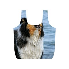 Black Tri Border Collie Wet Full Print Recycle Bags (S)