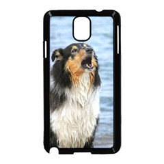 Black Tri Border Collie Wet Samsung Galaxy Note 3 Neo Hardshell Case (Black)