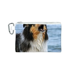 Black Tri Border Collie Wet Canvas Cosmetic Bag (S)