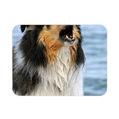 Black Tri Border Collie Wet Double Sided Flano Blanket (Mini)