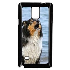 Black Tri Border Collie Wet Samsung Galaxy Note 4 Case (Black)