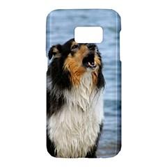 Black Tri Border Collie Wet Samsung Galaxy S7 Hardshell Case