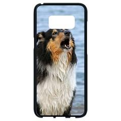 Black Tri Border Collie Wet Samsung Galaxy S8 Black Seamless Case