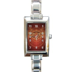 The Rusty Red Fractal Scarab of Fiery Old Man Ra Rectangle Italian Charm Watch