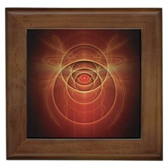 The Rusty Red Fractal Scarab Of Fiery Old Man Ra Framed Tiles
