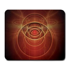 The Rusty Red Fractal Scarab of Fiery Old Man Ra Large Mousepads