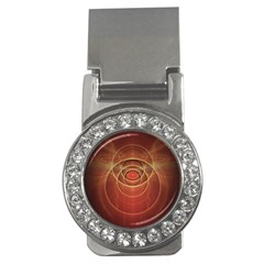 The Rusty Red Fractal Scarab of Fiery Old Man Ra Money Clips (CZ)