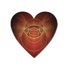 The Rusty Red Fractal Scarab of Fiery Old Man Ra Heart Magnet