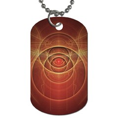 The Rusty Red Fractal Scarab of Fiery Old Man Ra Dog Tag (One Side)