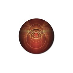 The Rusty Red Fractal Scarab of Fiery Old Man Ra Golf Ball Marker (10 pack)