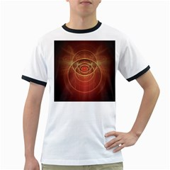 The Rusty Red Fractal Scarab of Fiery Old Man Ra Ringer T-Shirts