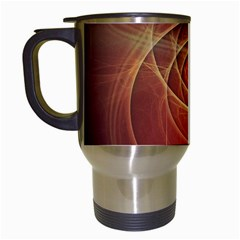 The Rusty Red Fractal Scarab of Fiery Old Man Ra Travel Mugs (White)